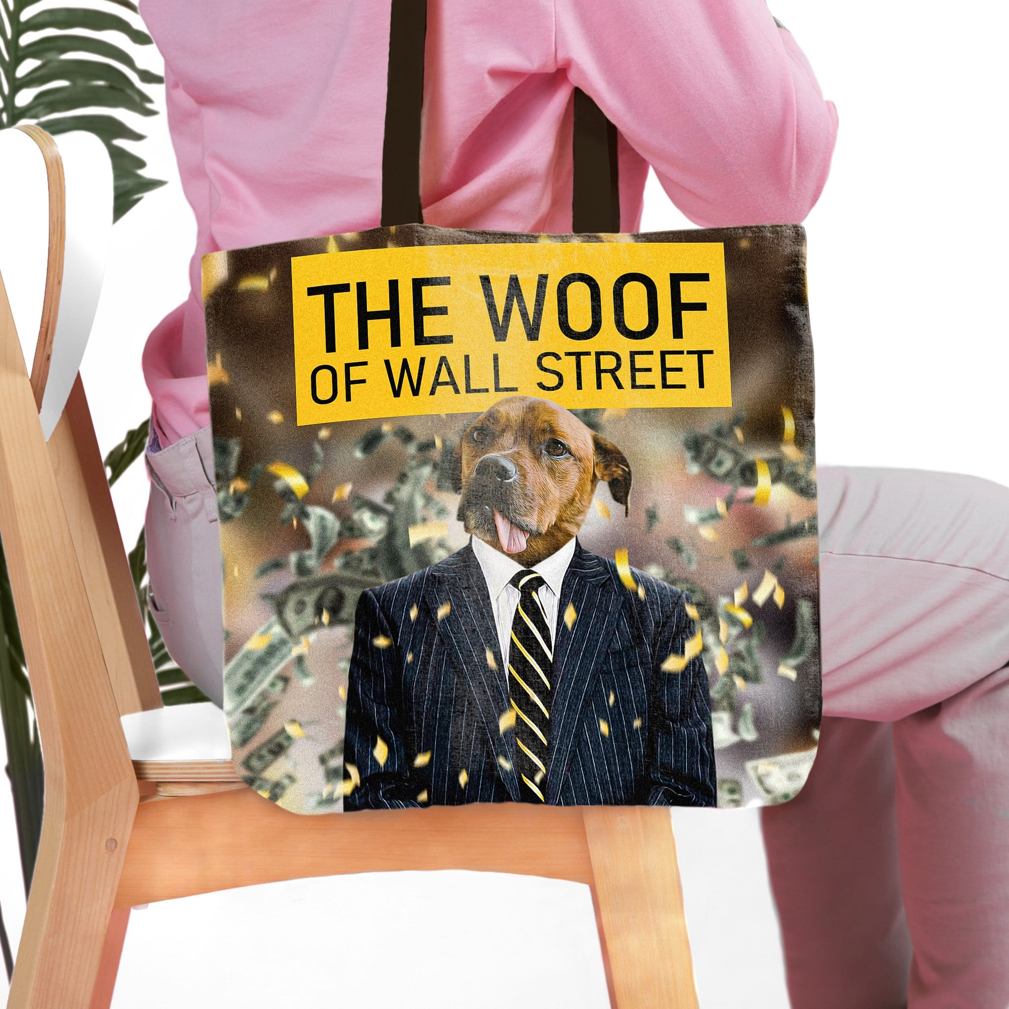 'The Woof of Wall Street' Personalized Tote Bag