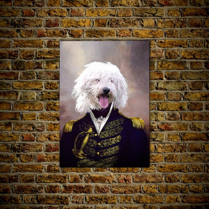 The Admiral: Personalized Pet Poster
