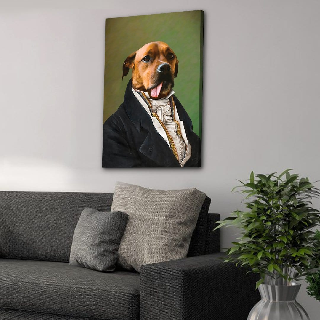 The Ambassador: Personalized Pet Canvas