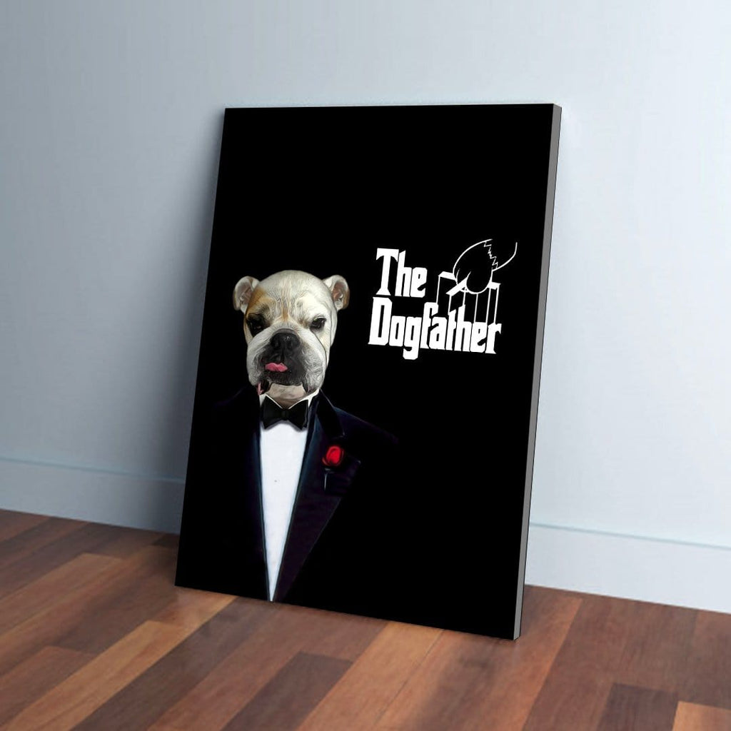 The Dogfather: Personalized Pet Canvas