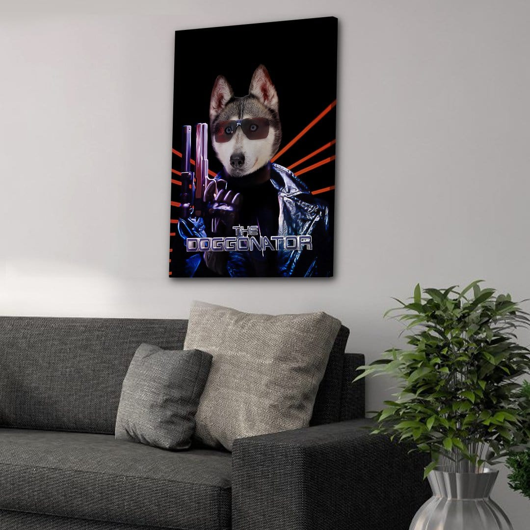The Doggonator :Personalized Dog Canvas