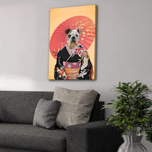 Memoirs of a Doggeisha: Personalized Pet Canvas