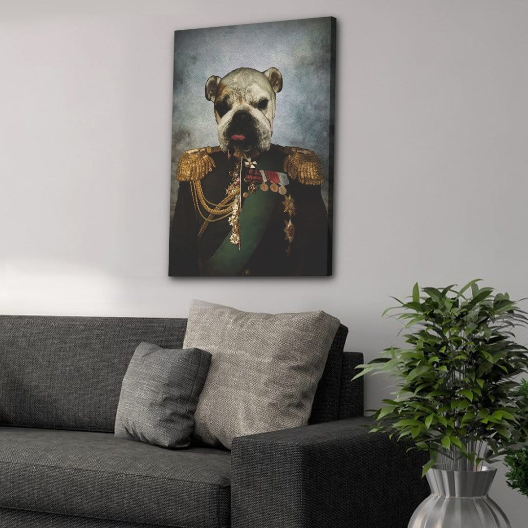 The General: Personalized Dog Canvas