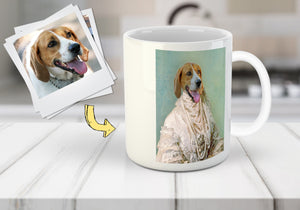 The Pearled Dame Custom Pet Mug
