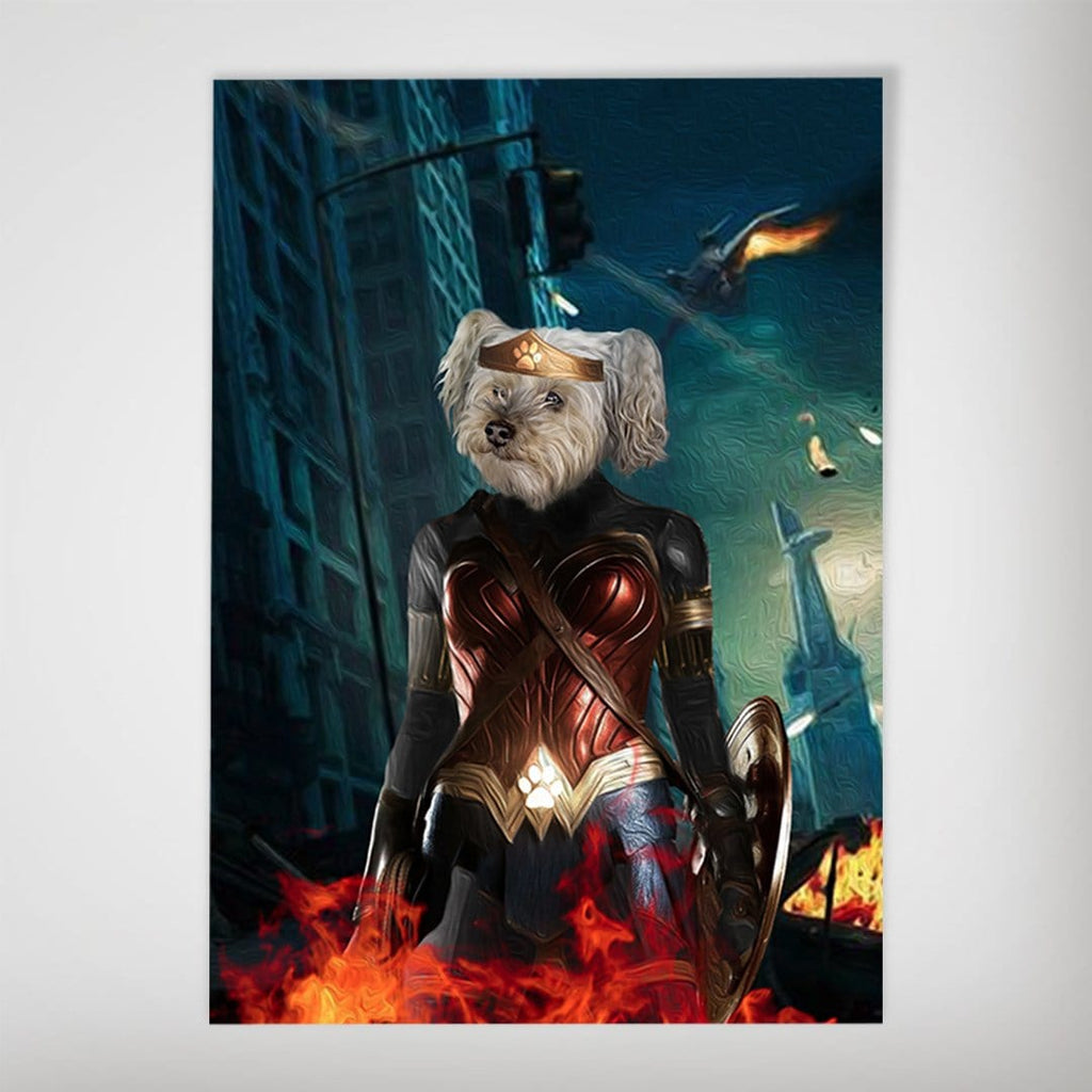 'Wonder Doggette' Personalized Dog Poster