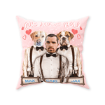 'We Love You' Personalized Pets/Human Throw Pillow