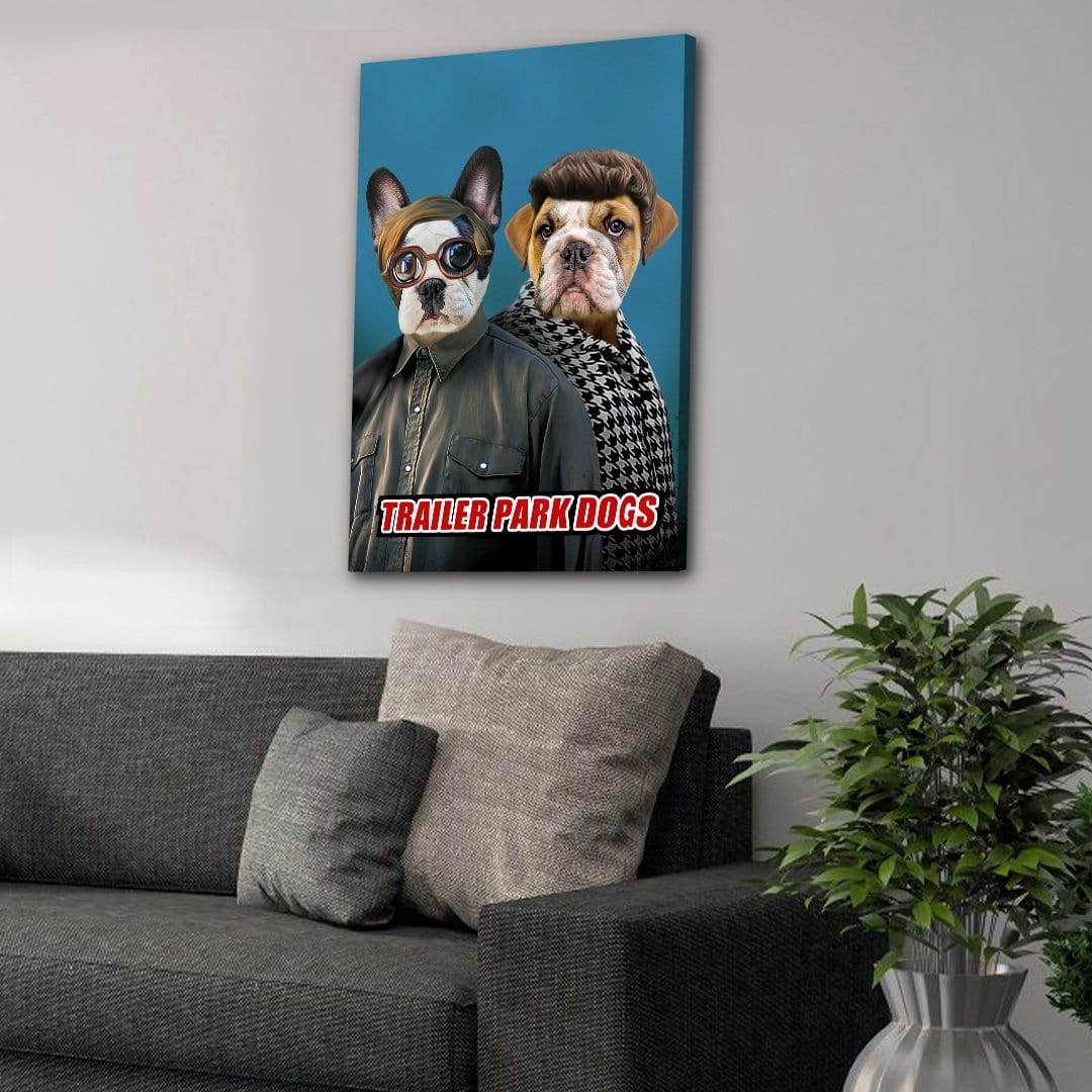 'Trailer Park Dogs 2' Personalized 2 Pet Canvas