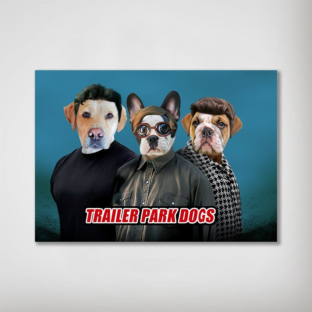 'Trailer Park Dogs 3' Personalized 3 Pet Poster