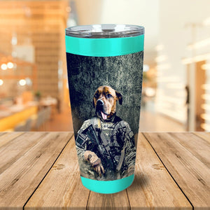 'The Army Veteran' Personalized Tumbler