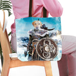 'The Viking Warrior' Personalized Tote Bag