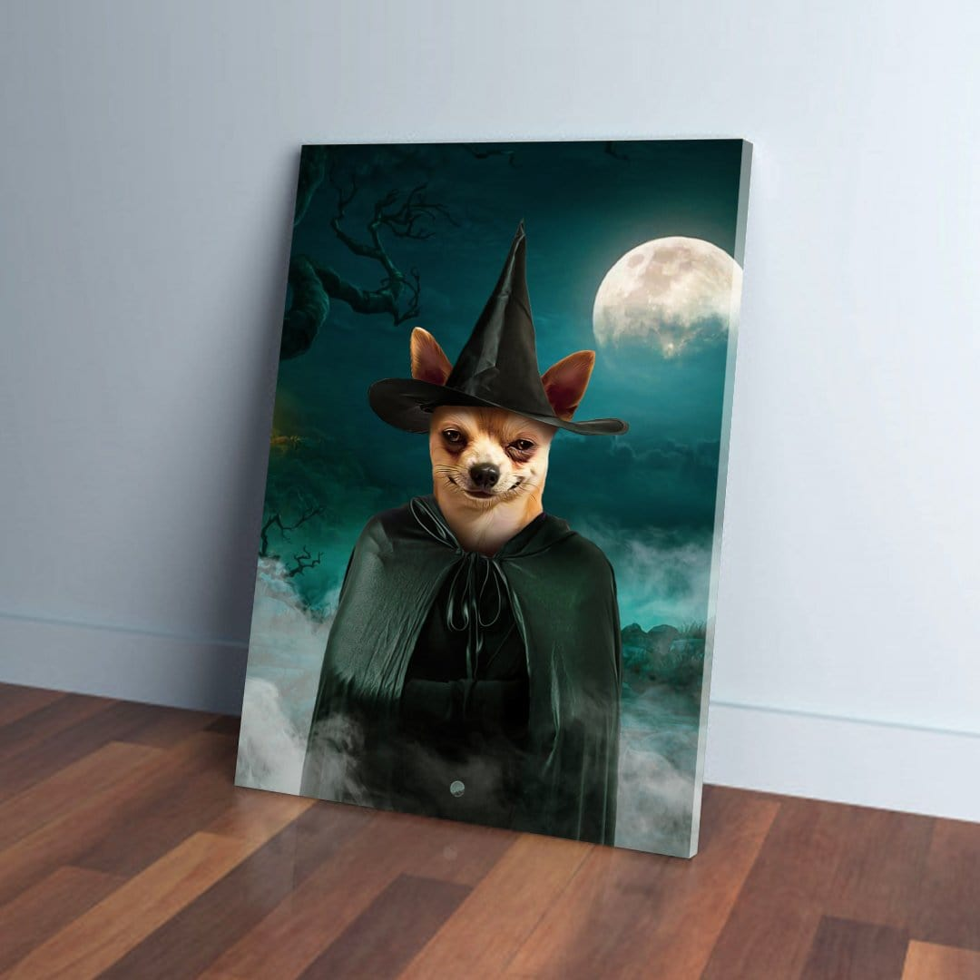 'The Witch' Personalized Pet Canvas