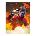 'Freddy Woofer' Personalized Pet Standing Canvas