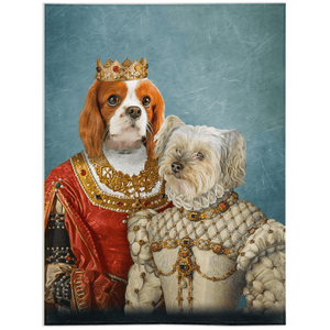 'Queen and Princess' Personalized 2 Pet Blanket
