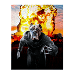 'The Wolverine Dog' Personalized Pet Standing Canvas