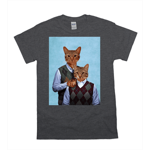 'Step-Kitties' Personalized 2 Pet T-Shirt