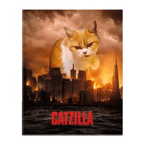 'Catzilla' Personalized Pet Standing Canvas