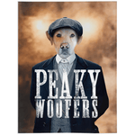'Peaky Woofers' Personalized Pet Blanket