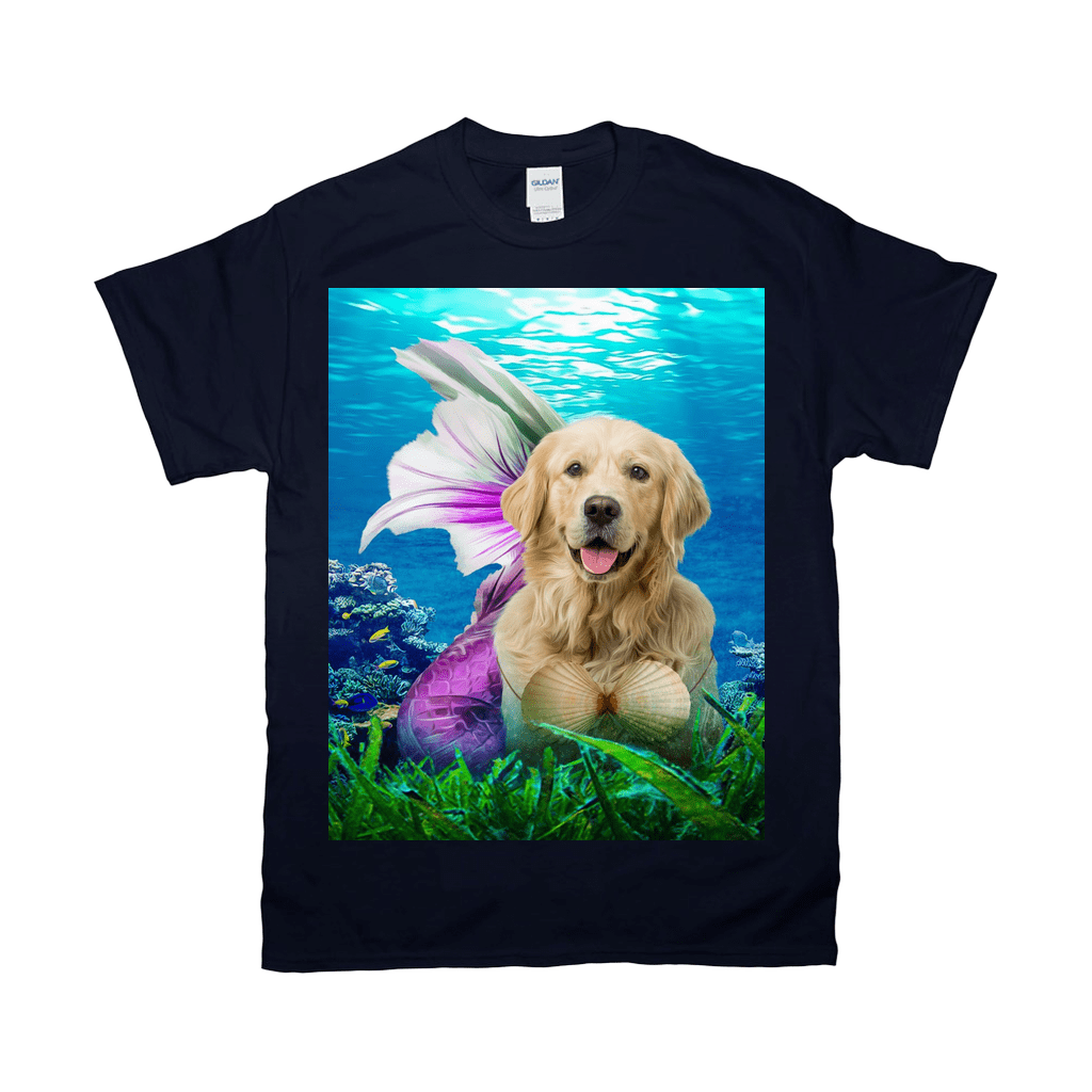 'The Mermaid' Personalized Pet T-Shirt