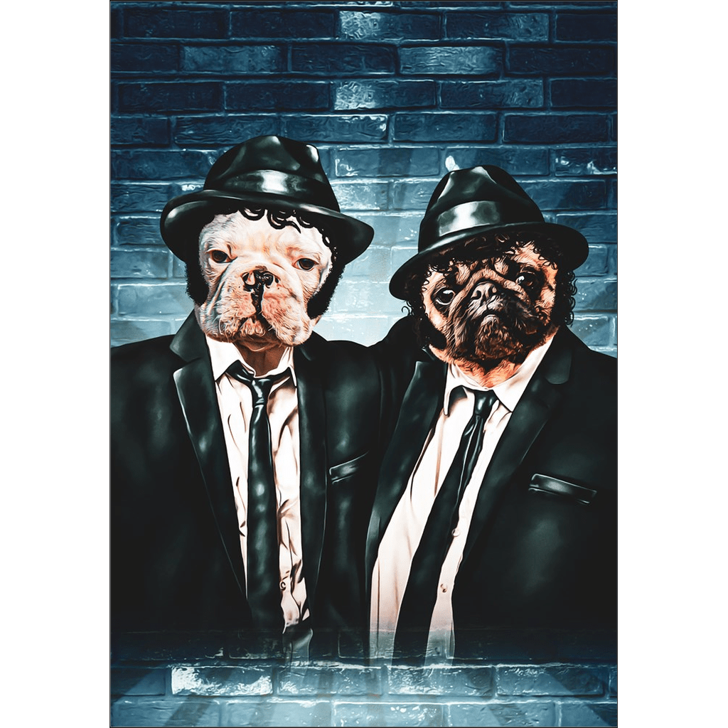 'The Blues Doggos' Personalized 2 Pet Poster