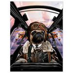 'The Pilot' Personalized Dog Poster