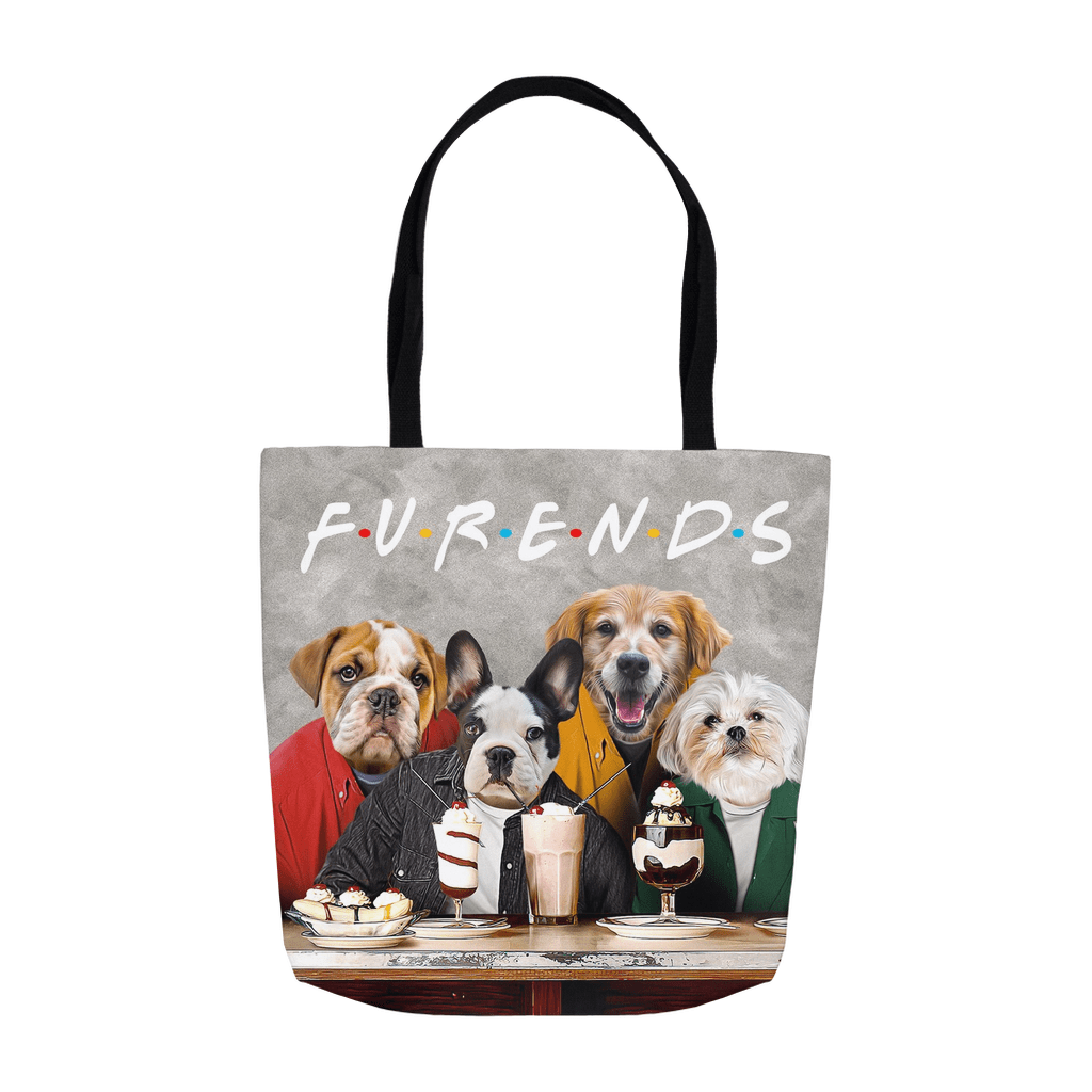 'Furends' Personalized 4 Pet Tote Bag