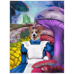 'Alice in Doggoland' Personalized Pet Blanket