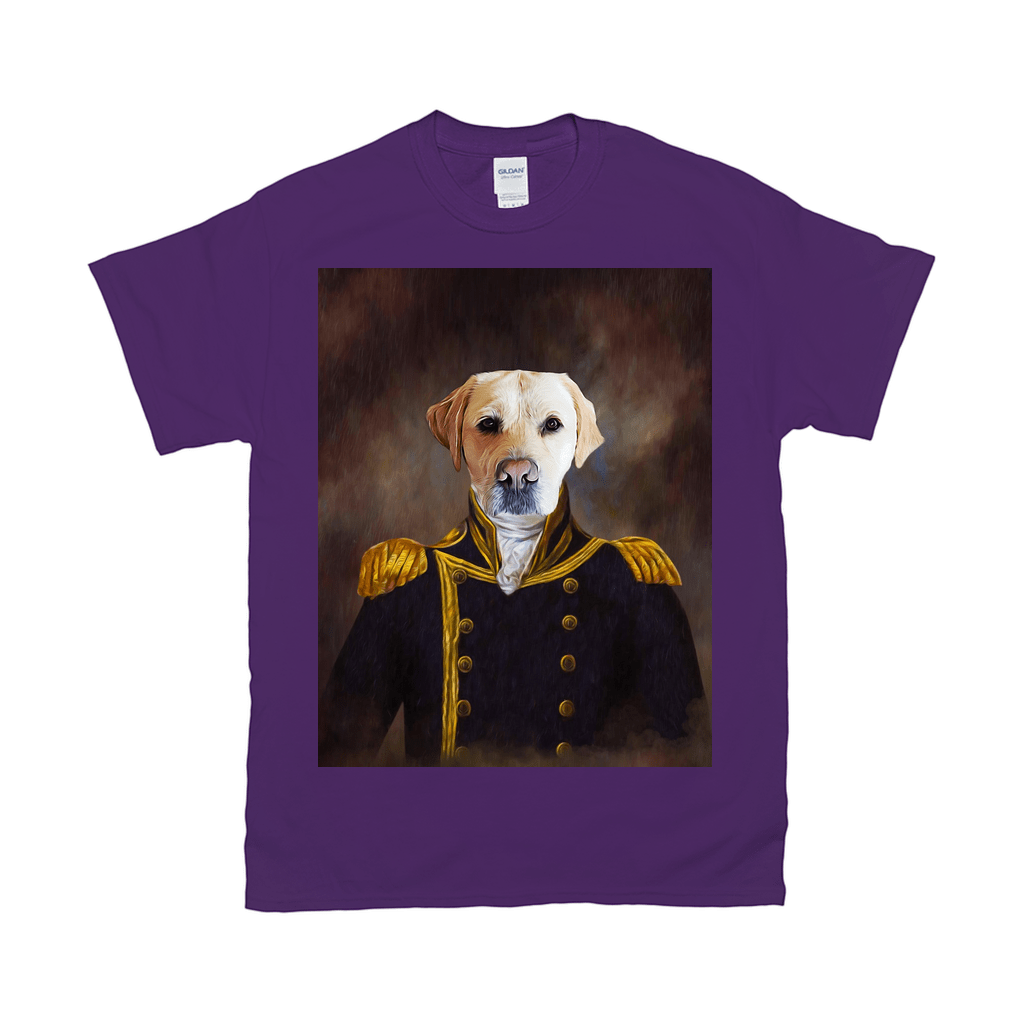 'The Captain' Personalized Pet T-Shirt
