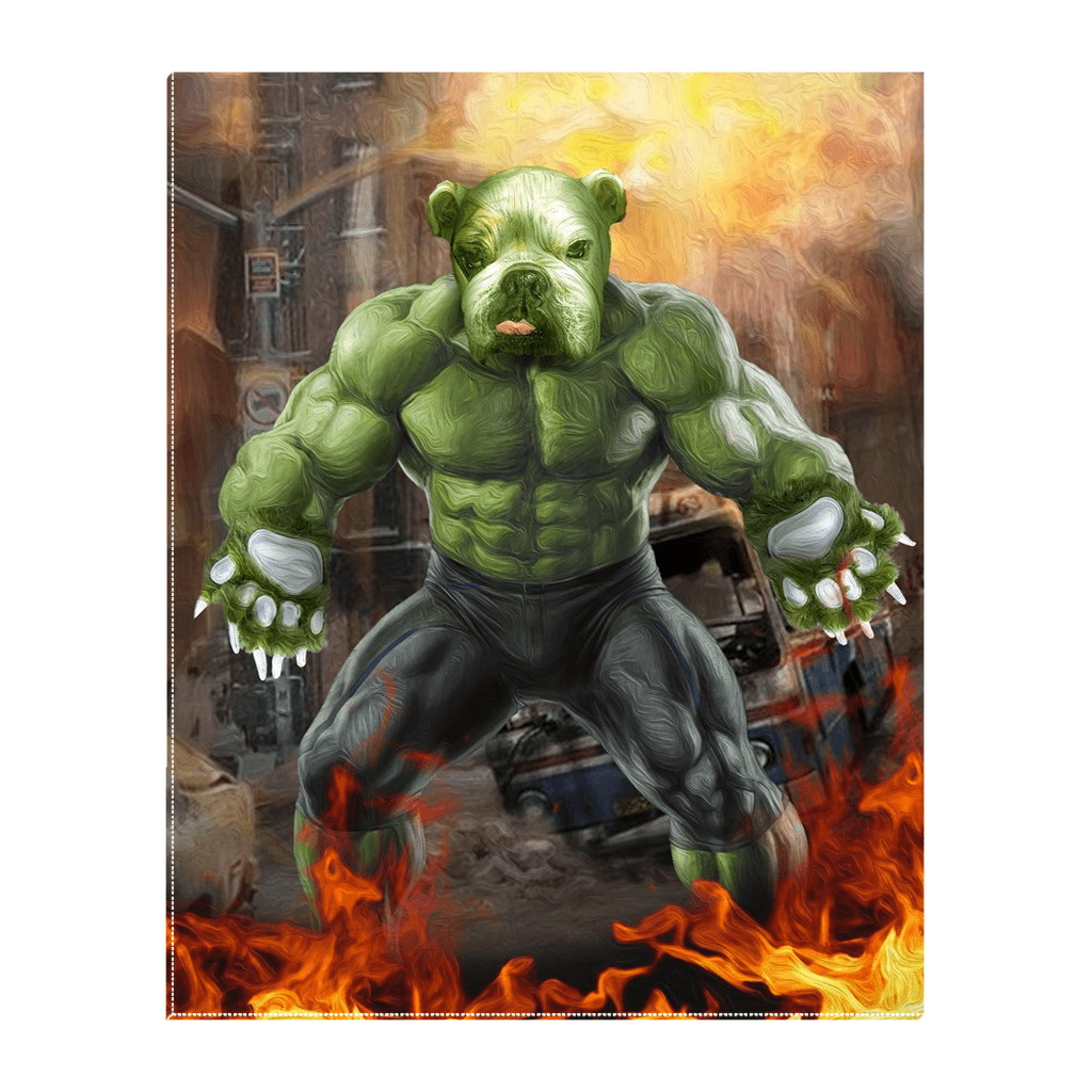 'Doggo Hulk' Personalized Pet Standing Canvas