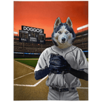 'The Baseball Player' Personalized Pet Blanket
