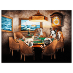 'The Poker Players' Personalized 5 Pet Poster