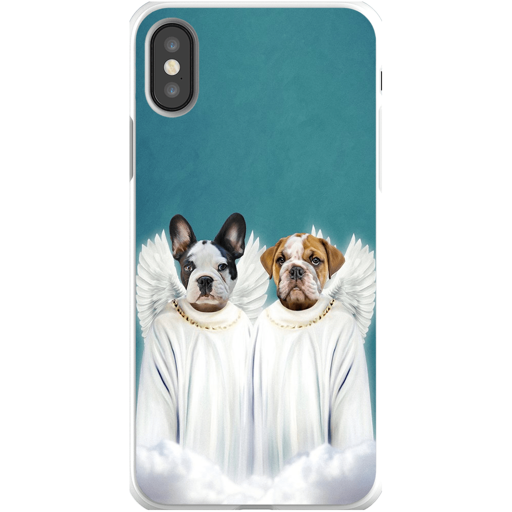 '2 Angels' Personalized Pets Phone Case