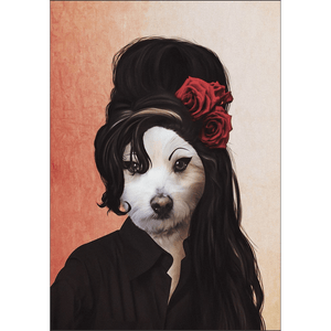 'Amy Doghouse' Personalized Dog Poster