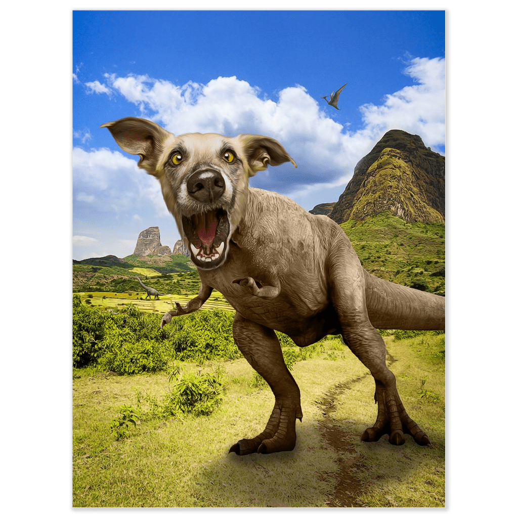'Pawasaurus Rex' Personalized Pet Poster