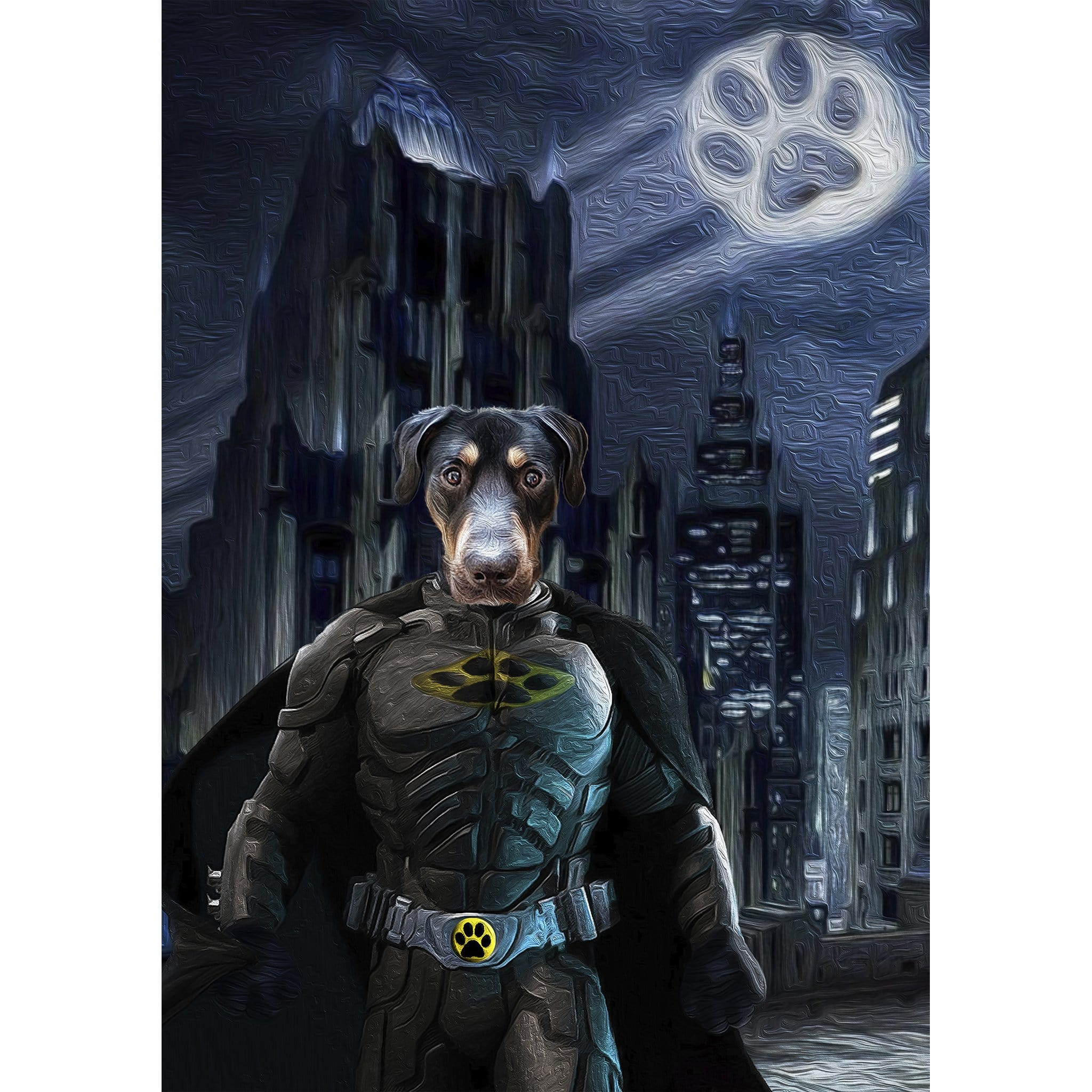 'The Batdog' Digital Portrait