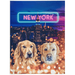 'Doggos of New York' Personalized 2 Pet Blanket