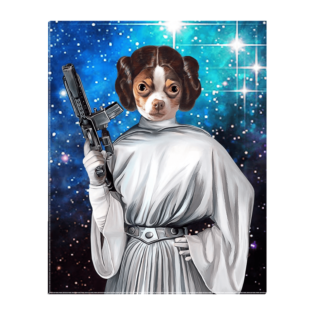 'Princess Leidown' Personalized Pet Standing Canvas