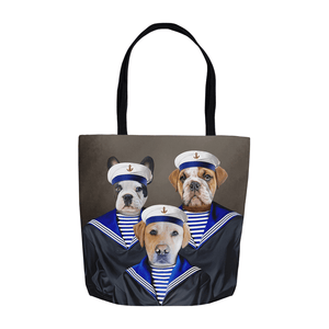 'The Sailors' Personalized 3 Pet Tote Bag