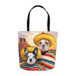 '2 Amigos' Personalized 2 Pet Tote Bag