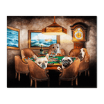 'The Poker Players' Personalized 4 Pet Standing Canvas