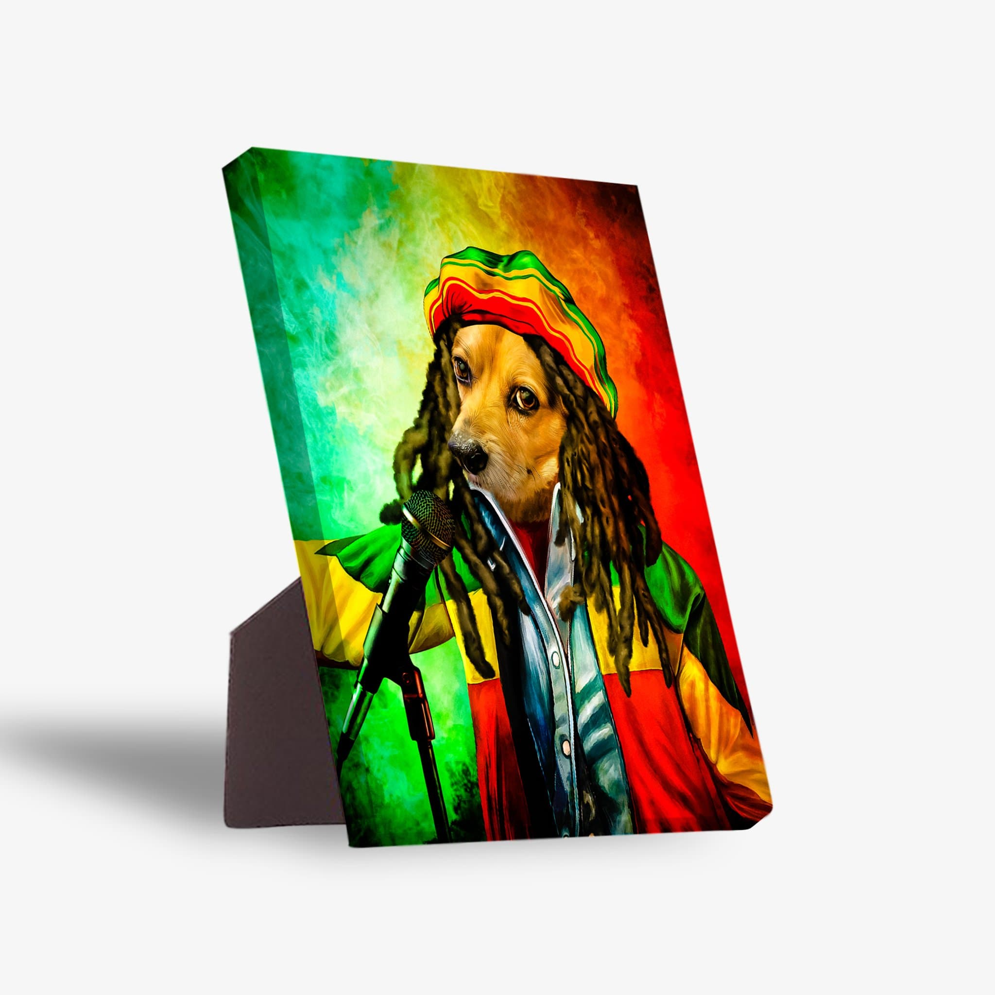 'Dog Marley' Personalized Pet Standing Canvas