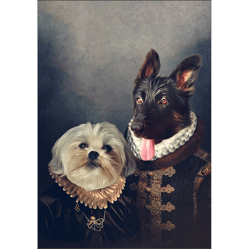 'Duke and Duchess' Personalized 2 Pet Poster
