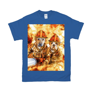 'The Firefighters' Personalized 2 Pet T-Shirt