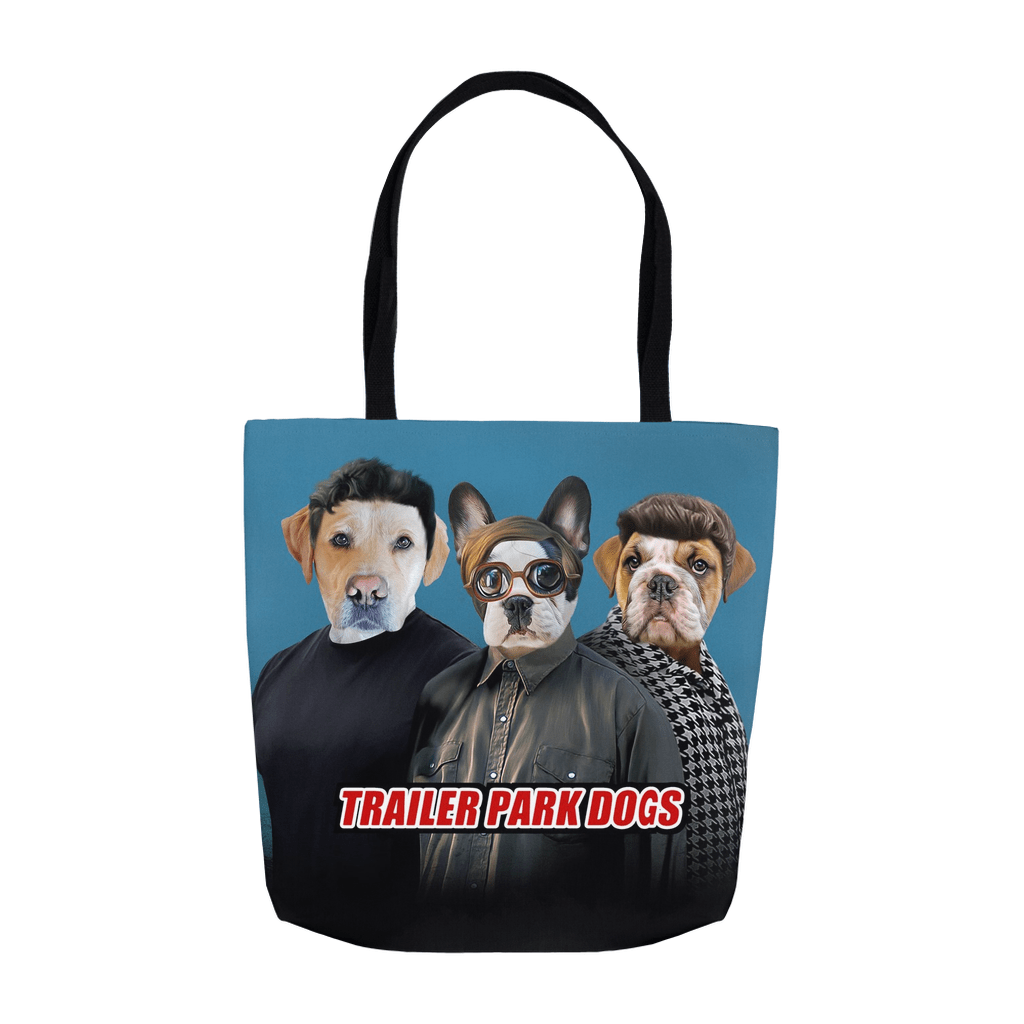 'Trailer Park Dogs' Personalized 3 Pet Tote Bag