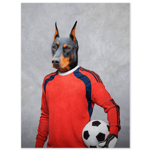 'The Soccer Goalie' Personalized Pet Poster