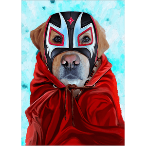 'El Luchador' Personalized Dog Poster