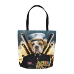 'The Marine' Personalized Tote Bag