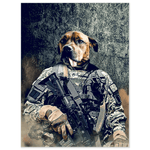 'The Army Veteran' Personalized Pet Poster