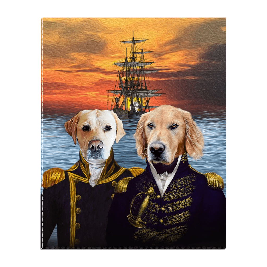 'The Explorers' Personalized 2 Pet Standing Canvas