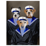 'The Sailors' Personalized 3 Pet Poster