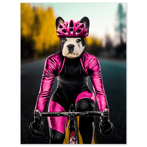 'The Female Cyclist' Personalized Pet Poster